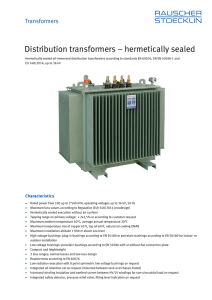 Distribution transformers – hermetically sealed