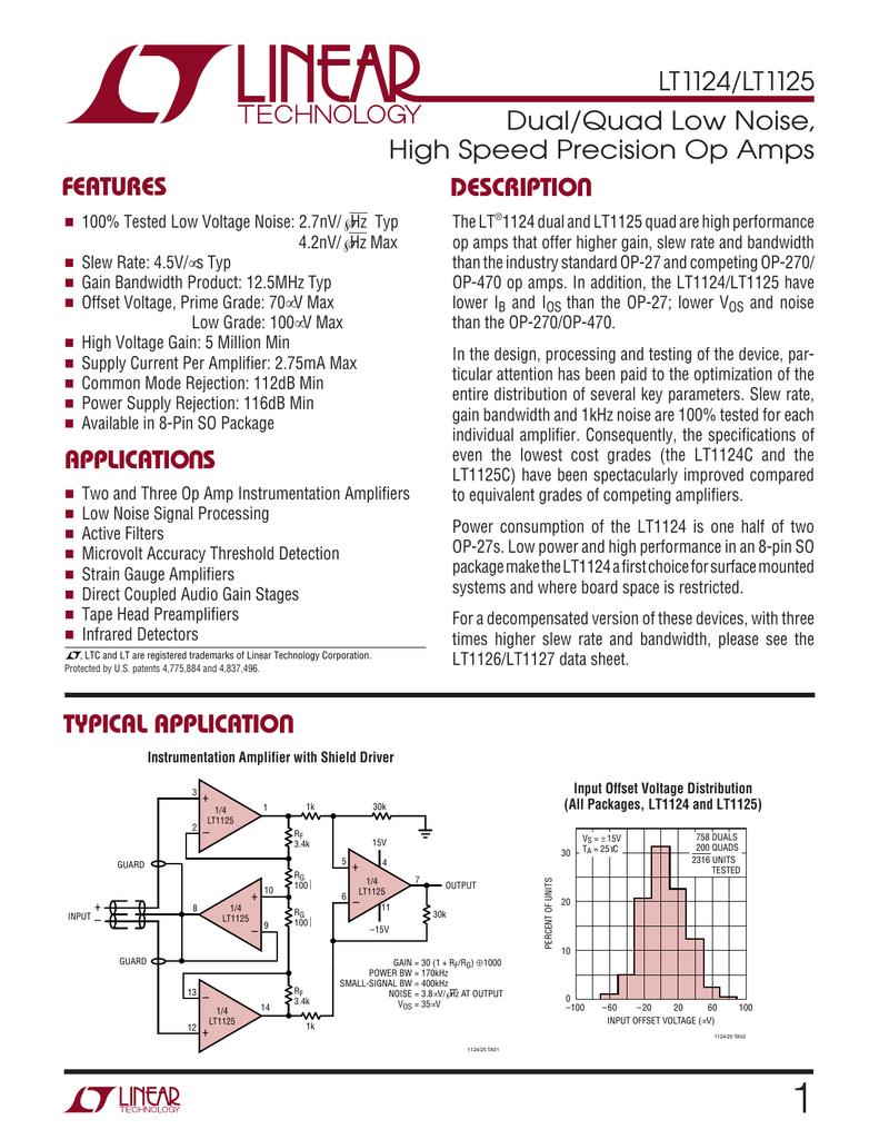 0.6 V//µs ± 1.5V to ± 18V, Quad 1 MHz 4 Amplifier 5 X Operational Amplifier