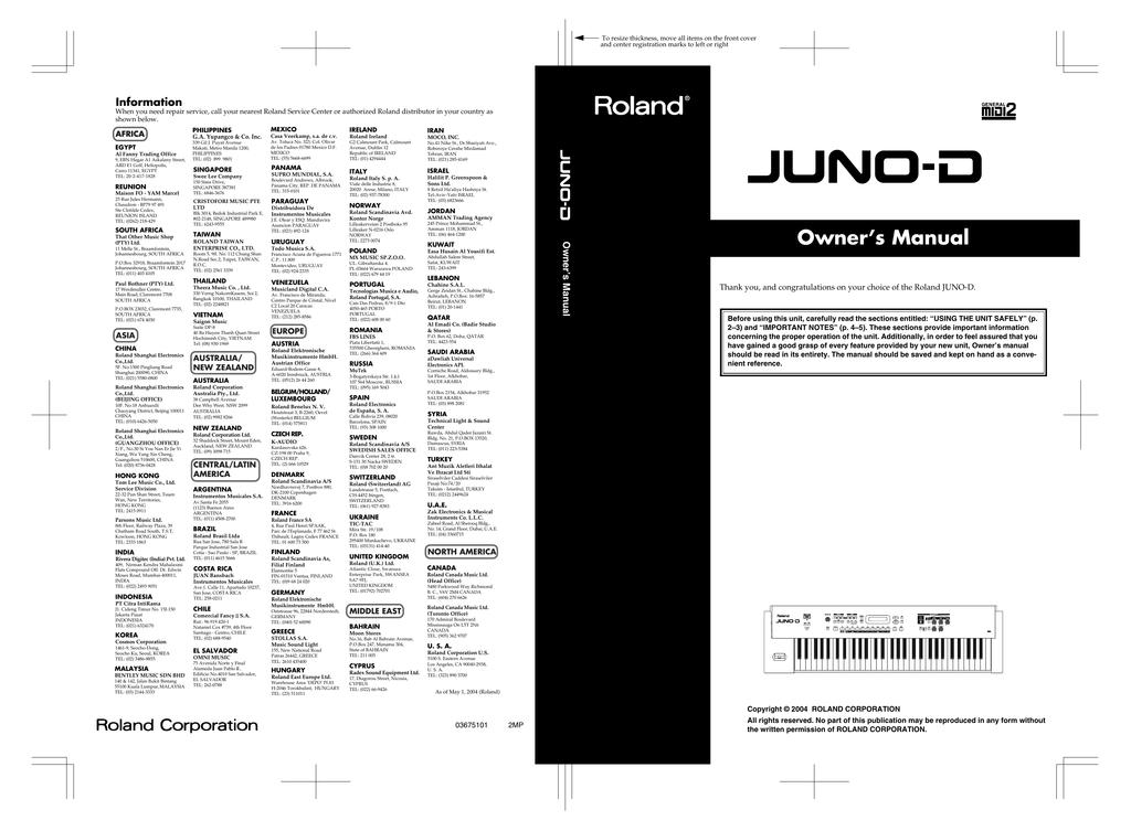 Owner`s Manual