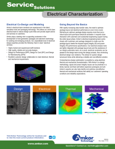 Electrical Package Characterization Data Sheet