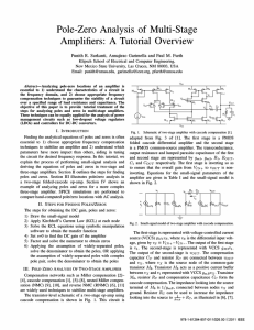 Pole-Zero Analysis of Multi-Stage Amplifiers: A Tutorial