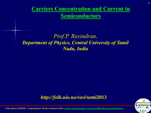 Prof.P. Ravindran, Carriers Concentration and Current in