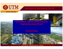Mechanical Engineering Faculty g g y Automotive Aeronautical