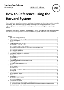 How to Reference using the Harvard System