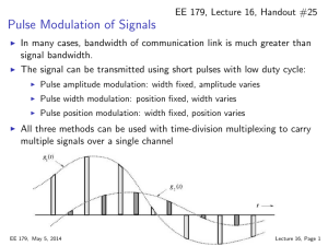 Pulse Modulation of Signals