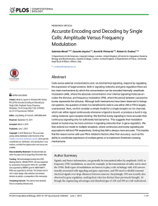 Accurate Encoding and Decoding by Single Cells: Amplitude