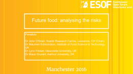 Future food: analysing the risks
