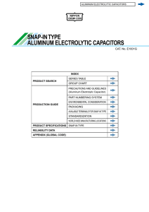 SNAP-IN TYPE ALUMINUM ELECTROLYTIC CAPACITORS