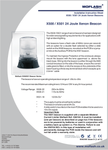 X500 / X501 24 Joule Xenon Beacon