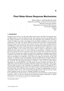 Plant Water-Stress Response Mechanisms