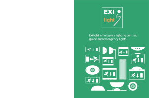 Exilight emergency lighting centres, guide and emergency lights
