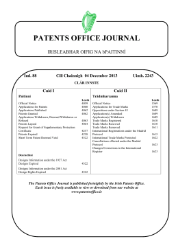 Journal 2243 - Patents Office