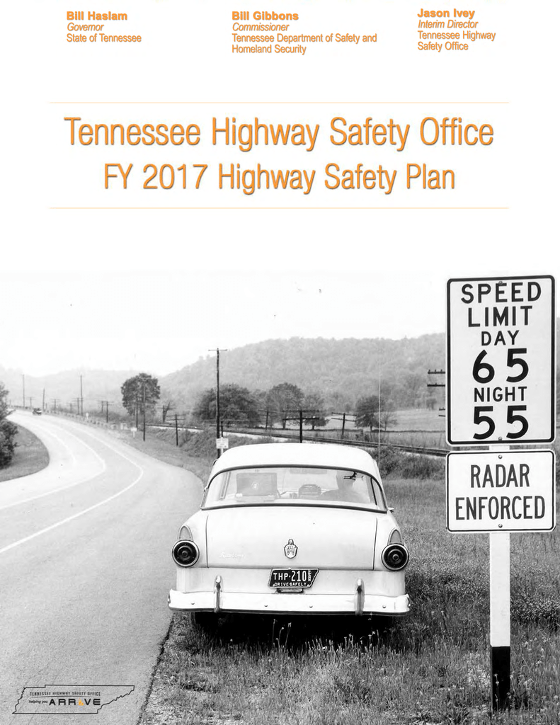 Highway Safety Plan - Tennessee Traffic Safety Resource Service