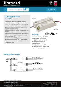 CL CoolLED LED Drivers Key Facts Wiring diagram