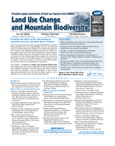 Land Use Change and Mountain Biodiversity (Flyer)