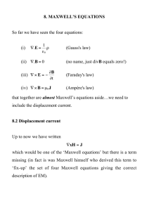 8. MAXWELL`S EQUATIONS So far we have seen the four equations
