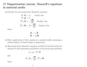 17 Magnetization current, Maxwell`s equations in material media