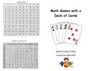 Math Games with a Deck of Cards
