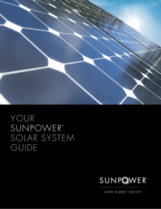 SunPower® Performance Series 1500 Volt   P17
