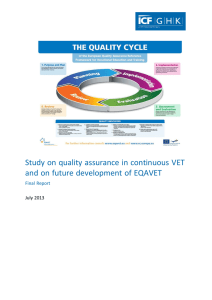 Study on quality assurance in continuous VET and on