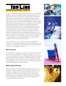 BPE Products BPE Certified Fittings