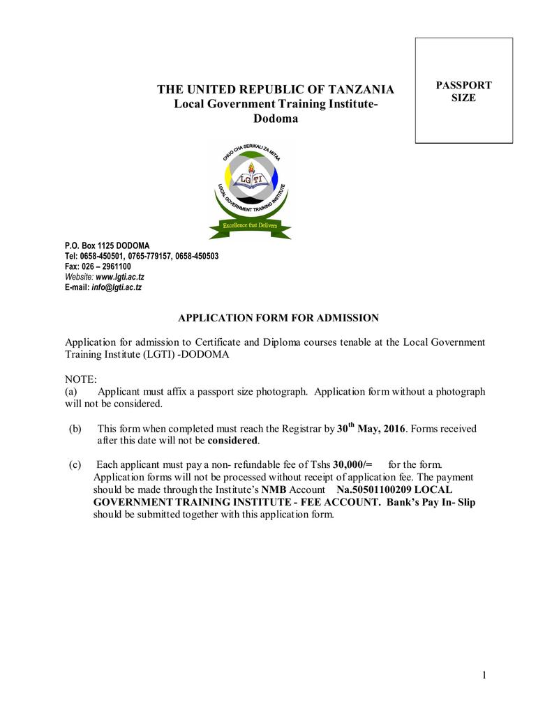 Dodoma - LGTI | Local Government Training Institute