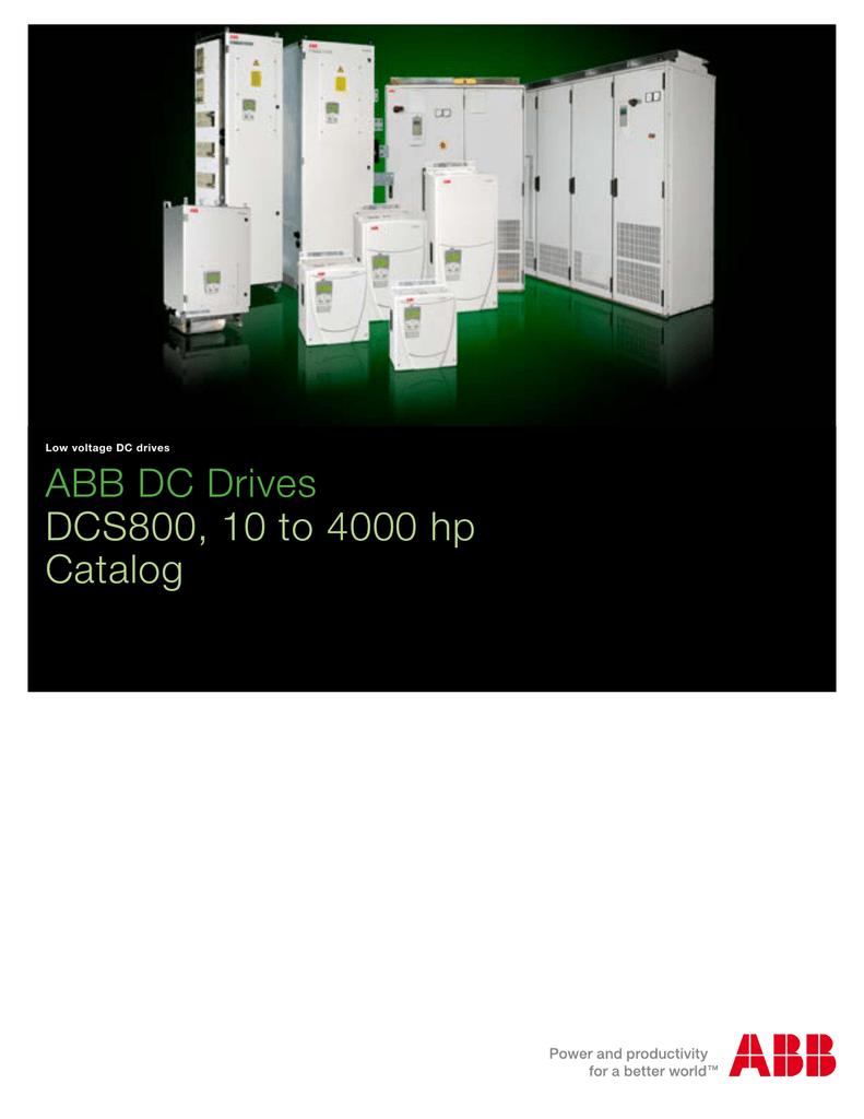 ABB DC Drives DCS800, 10 to 4000 hp Catalog Dcs Drive Wiring Diagram Dc on