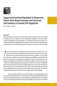 Supporting Emotional Regulation in Elementary School: Brain