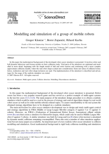 Modelling and simulation of a group of mobile robots