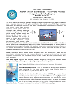 Aircraft System Identification – Theory and Practice