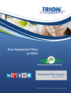 Trion Residential Filters by KOCH