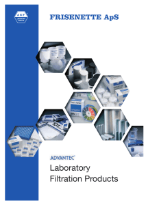 Advantec Laboratory Filtration Products Catalog 2010
