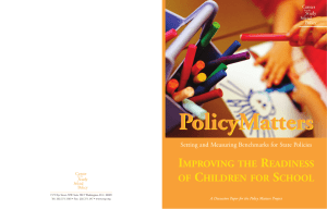 Improving the Readiness of Children for School: Recommendations