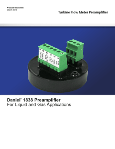 Daniel® 1838 Preamplifier For Liquid and Gas Applications