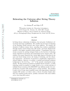 Reheating the Universe after String Theory Inflation