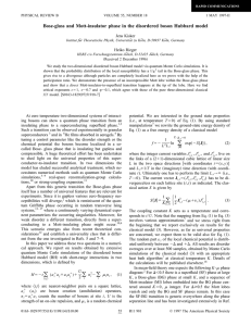 Bose-glass and Mott-insulator phase in the disordered boson