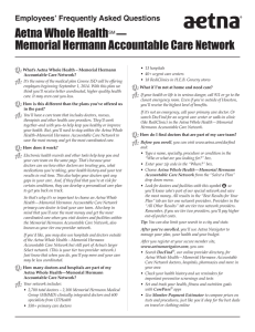 Aetna Whole HealthSM — Memorial Hermann