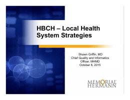 Dr. Griffin, Memorial Hermann Presentation