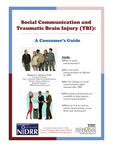 Social Communication and Traumatic Brain Injury