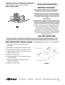 INSTALLATION INSTRUCTIONS IMPORTANT SAFEGUARDS