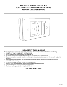 IMPORTANT SAFEGUARDS INSTALLATION INSTRUCTIONS