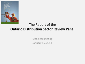 The Report of the Ontario Distribution Sector Review Panel