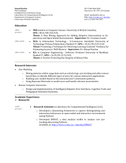 résumé - UBC Department of Computer Science