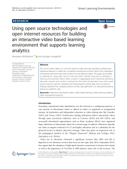 Using open source technologies and open internet resources for