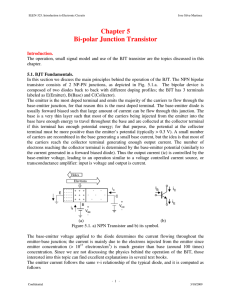 Chapter 5 Bi-polar Junction Transistor