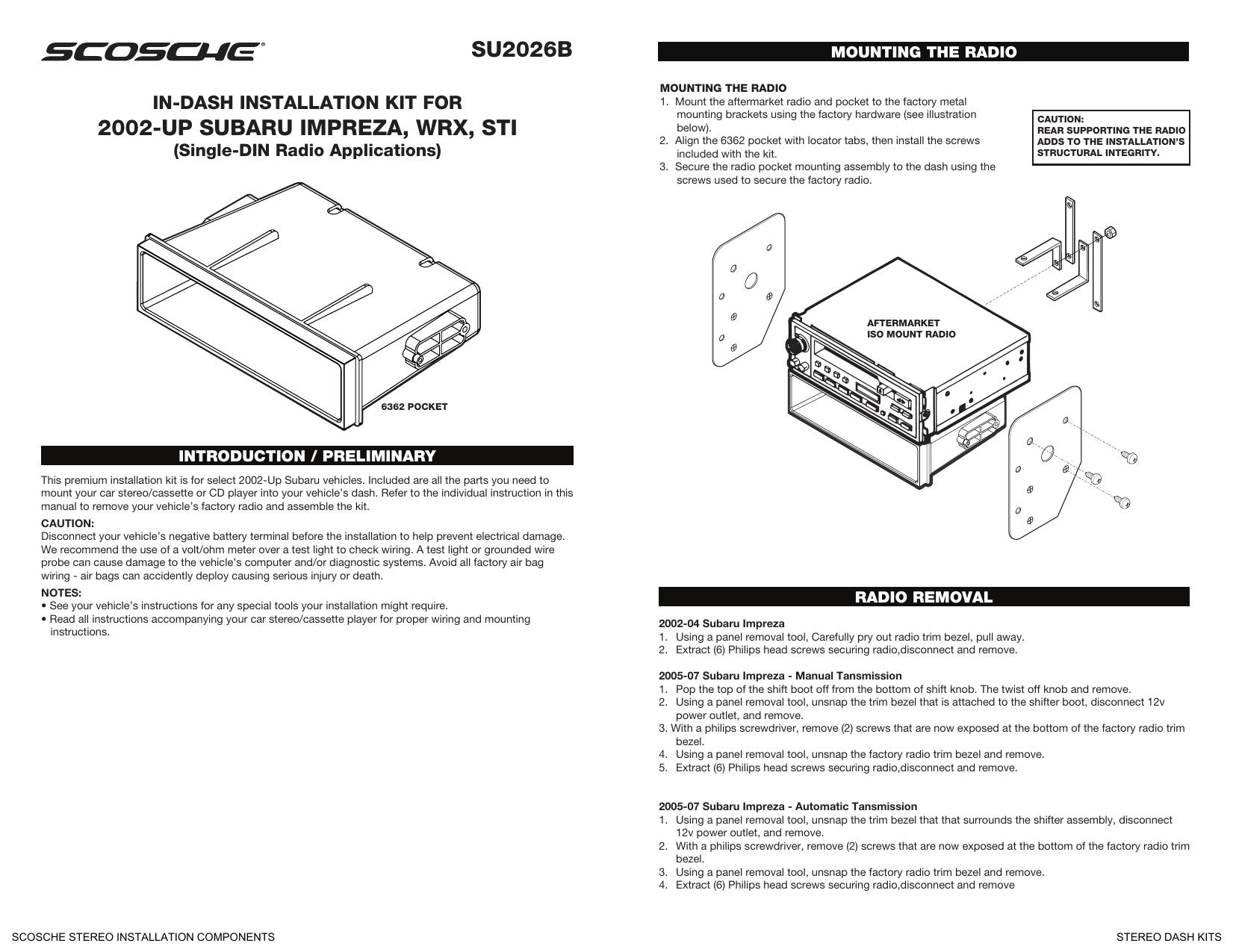 Scosche Radio Wiring Harness For Aftermarket Kit - Wiring