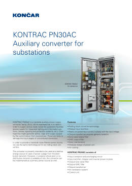 KONTRAC PN30AC Auxiliary converter for substations