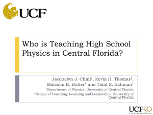 Who is Teaching High School Physics in Central