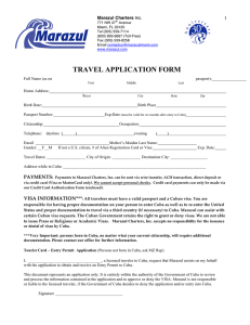 travel application form