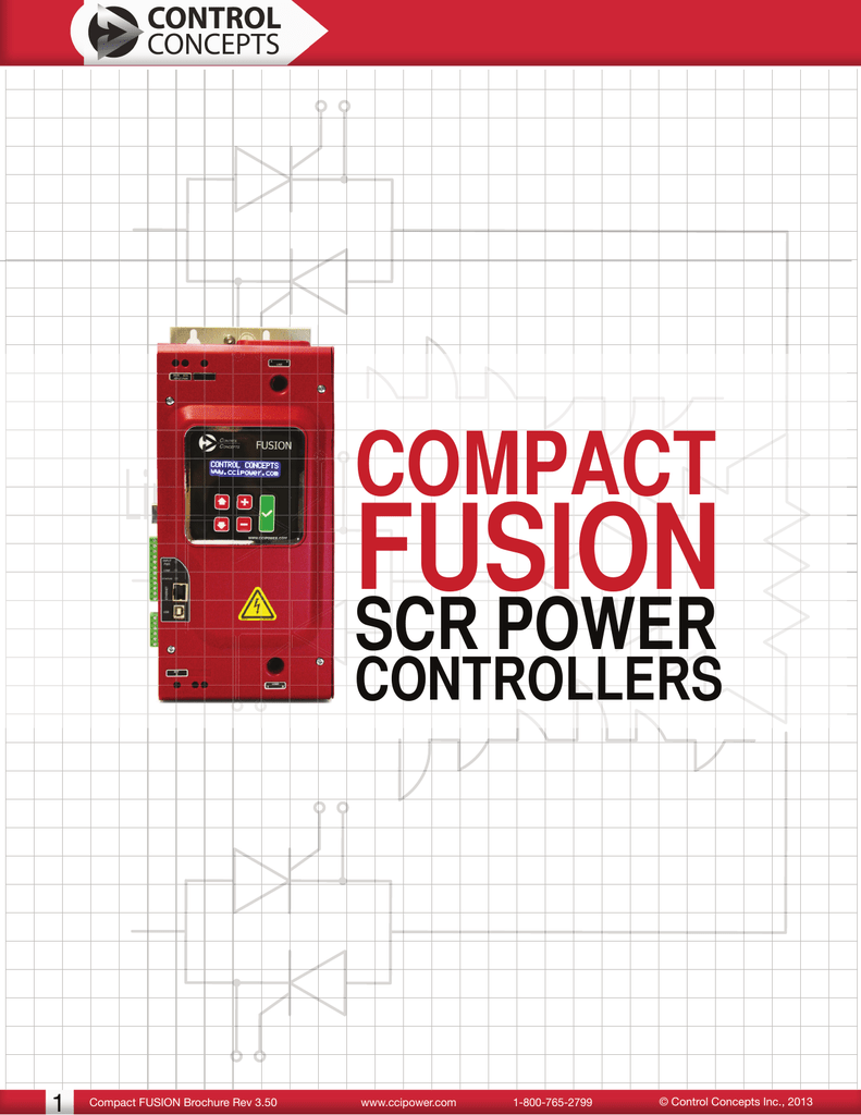Control Concepts Fusion 4 Zone SCR Power Controller CF-PA-1-2222-D-0000-0000